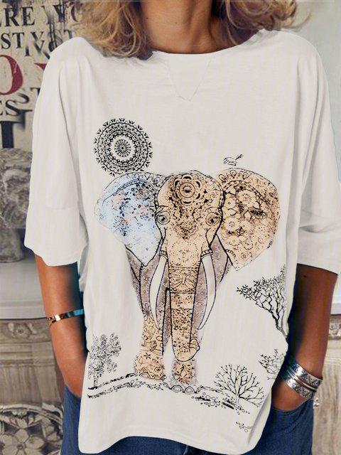 Women Casual Loose Tops Tunic T Shirt