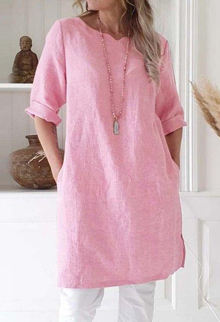 Casual Linen Plain Dresses