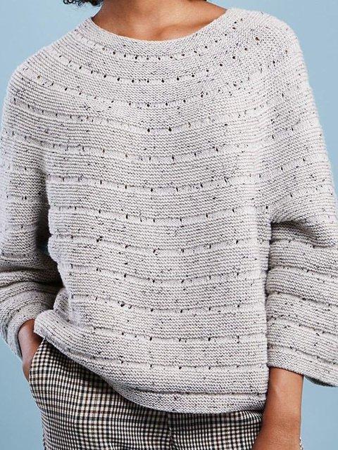 Solid Sweater Crew Neck Jumper