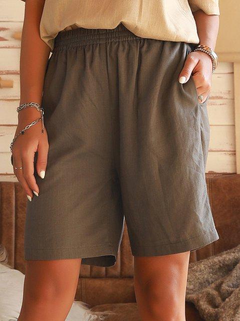 Dark Gray Cotton Shift Holiday Pants