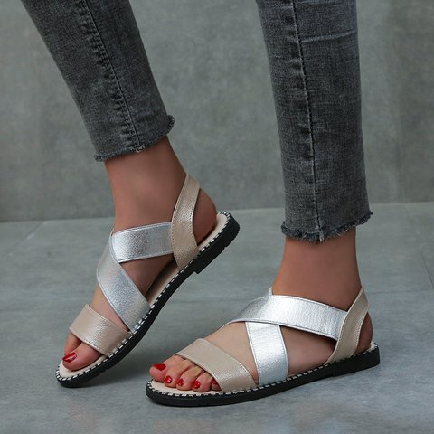 Pi Clue Artificial Leather Seaside Sandals
