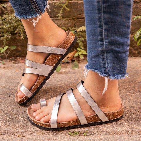Summer Causal Flip-Flops Slipper Wedge Heel Slippers