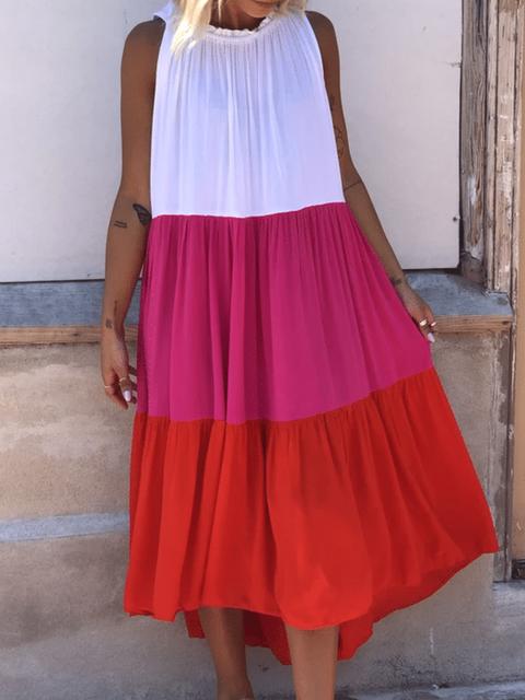 Casual Color-Block Dresses