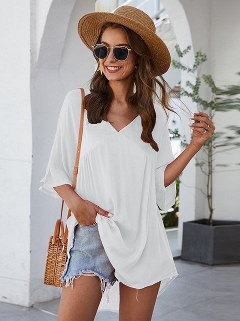 Casual Solid Paneled Dresses
