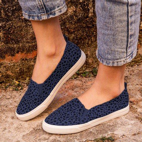 Women Fashion Leopard Loafers All Season Flat Shoes