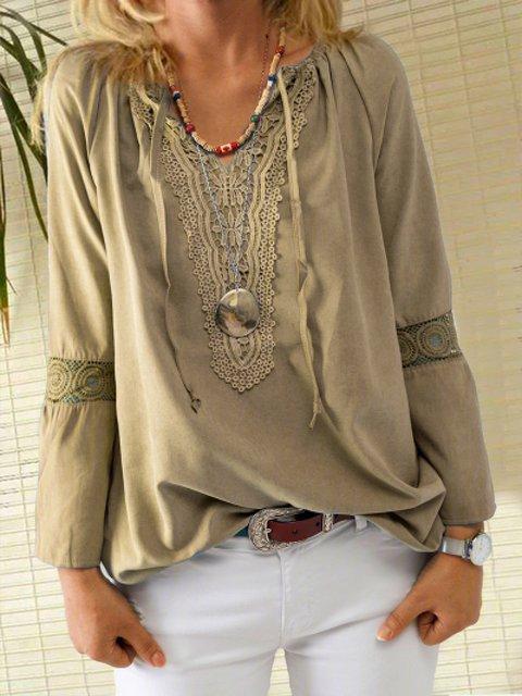 Coffee Casual 3/4 Sleeve Shirts & Tops