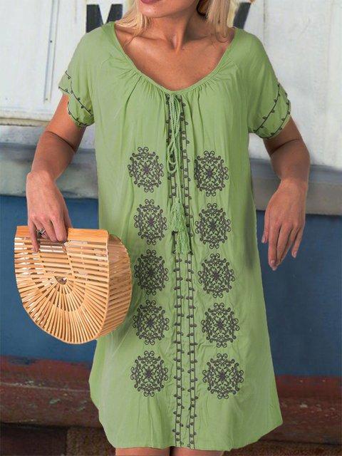 Women Dresses Holiday Boho Linen Dresses