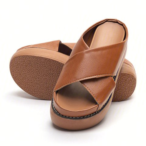 Platform Open Toe Comfy Slippers Casual Slide Sandals