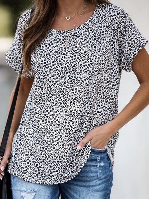 O-Neck Cotton Casual Shirts & Tops