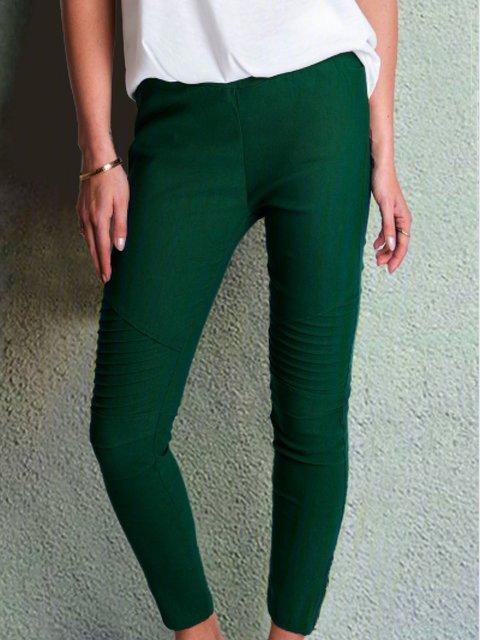 Solid Cotton Paneled Plain All Season Pants
