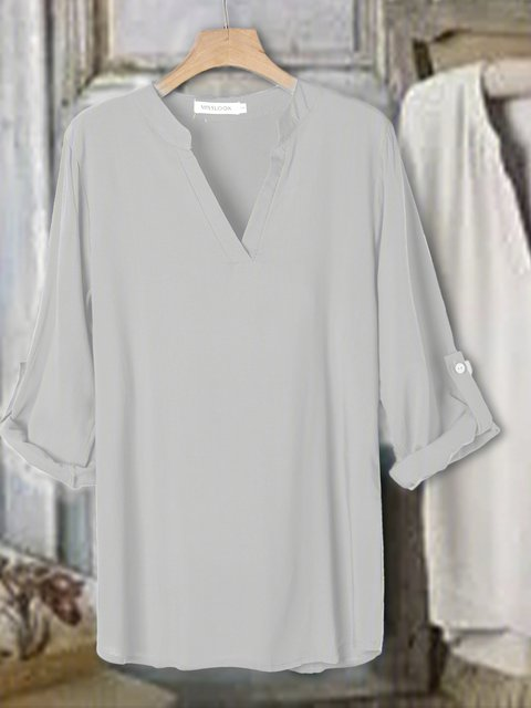 3/4 Sleeve Casual Cotton Shirts & Tops