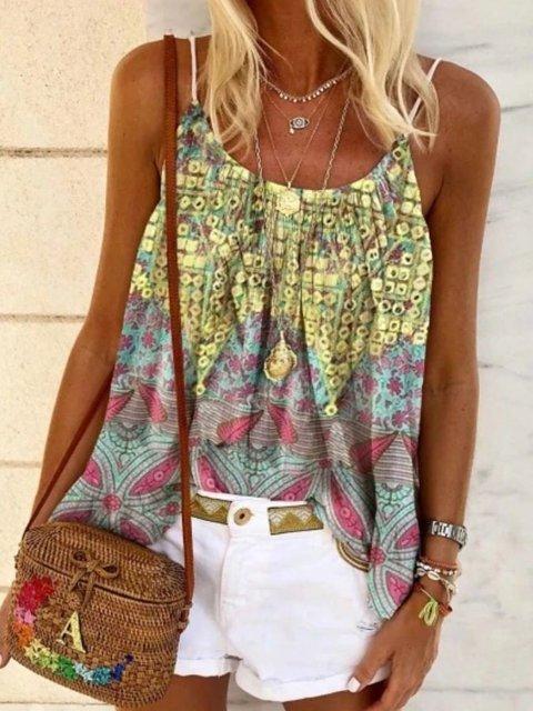 Floral Casual Chiffon Shirts & Tops