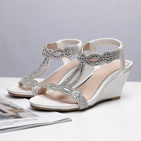 White Summer Wedge Heel Daily Sandals