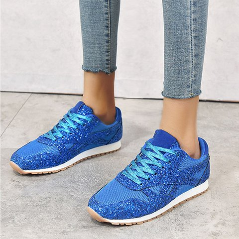 Pi Clue Sequin Artificial Leather Holiday All Season Sneakers