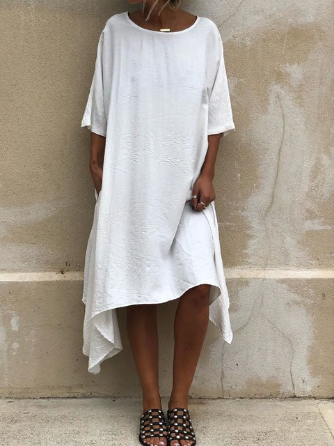 Casual Plus Size Short Sleeve Dresses