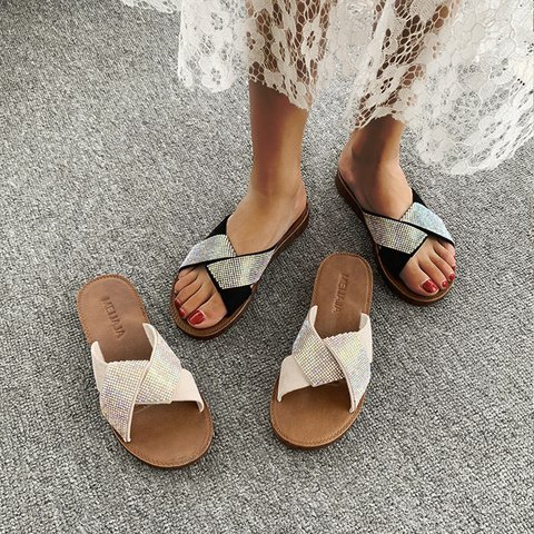 Pi Clue Casual Summer Suede Slippers