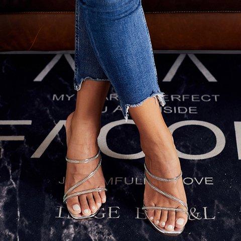 Pi Clue Summer High Heel Slippers