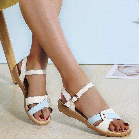 Pi Clue Summer Low Heel Sandals