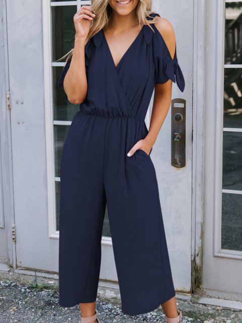 Bow Shift Holiday Jumpsuit