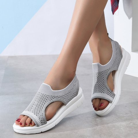 Women Woven Mesh Sandals