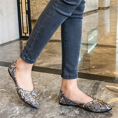 Women Casual Daily Slip On Flat Shoes