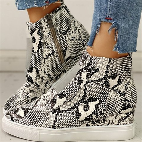 Women Casual Daily Comfy Slip On Wedge Sneakers