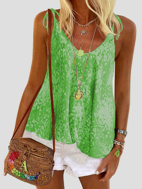 Casual Sleeveless Round Neck Tank Tops
