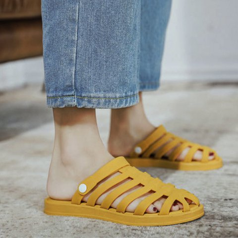 Pi Clue Summer Flat Heel Pvc Slippers