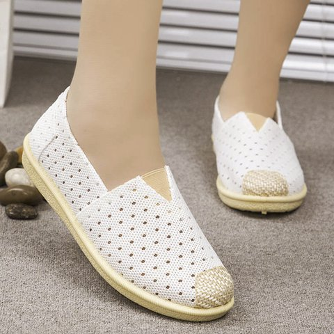 Pi Clue Summer Flat Heel Fabric Flats