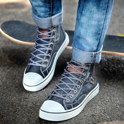 Women All Season Denim Lace-up Sneakers