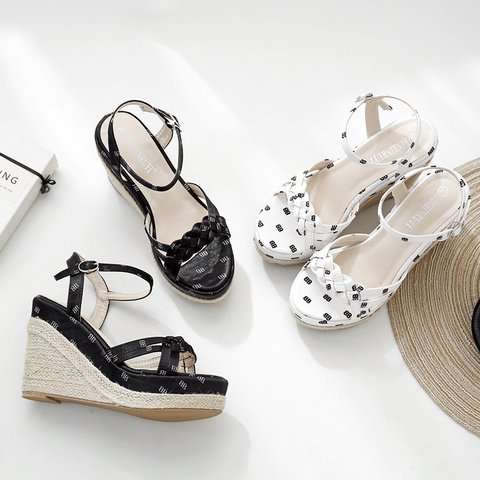 Pi Clue Artificial Leather Printed High Heel Summer Sandals