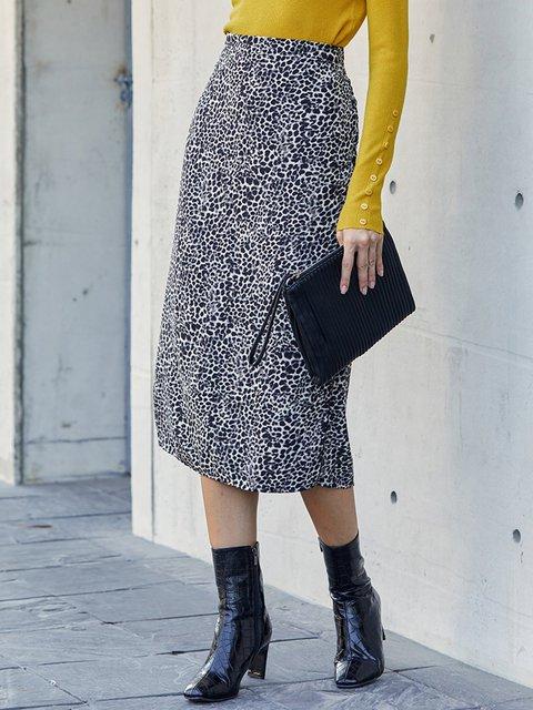 Leopard Leopard Print Sexy Skirts