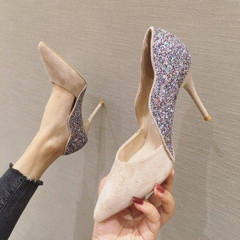 Sequin Stiletto Heel Elegant Pumps