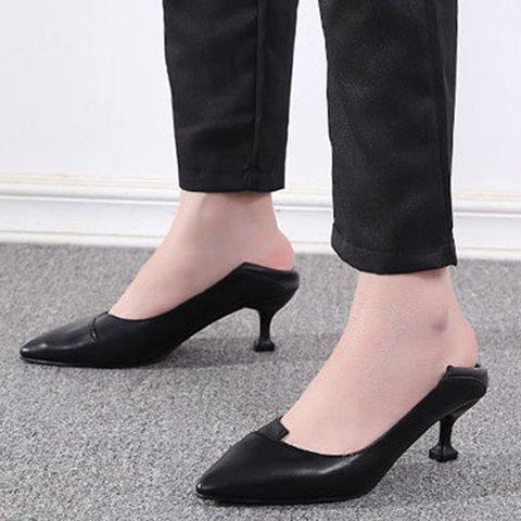 Black Stiletto Heel Summer Elegant Pumps