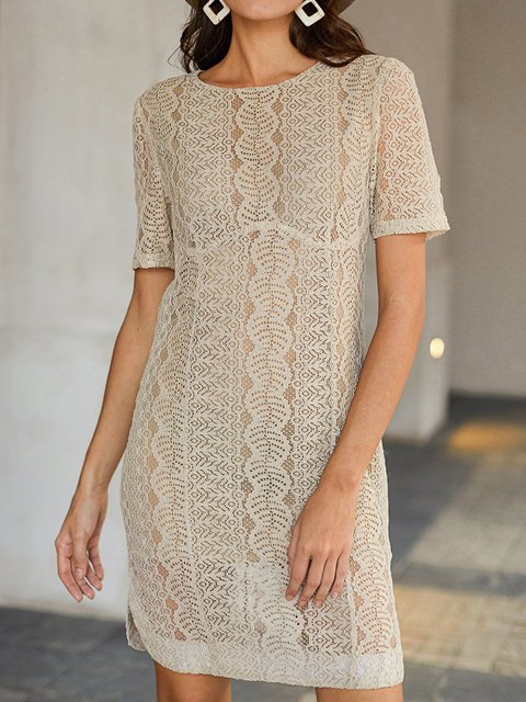 Apricot Elegant Short Sleeve Dresses
