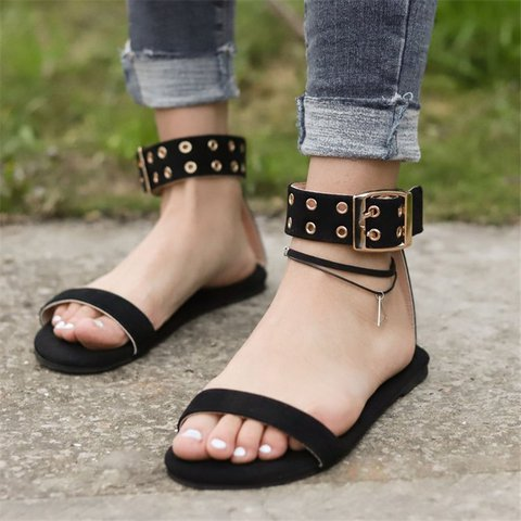 Women Casual Summer Open Toe Flat Sandals