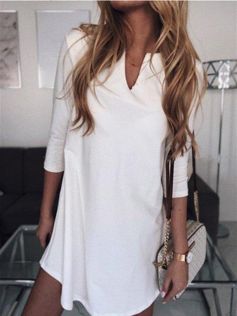 Casual 3/4 Sleeve Dresses