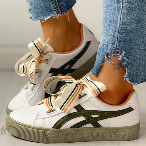 Women Casual Daily Comfy lace Up Sneakers
