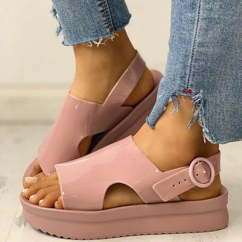 Women Casual Summer Buckle Strap Comfy Platform Sandals