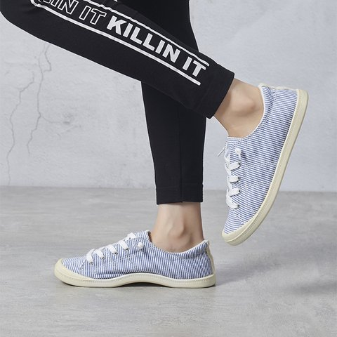 Women Summer Lace-Up Cloth Sneakers