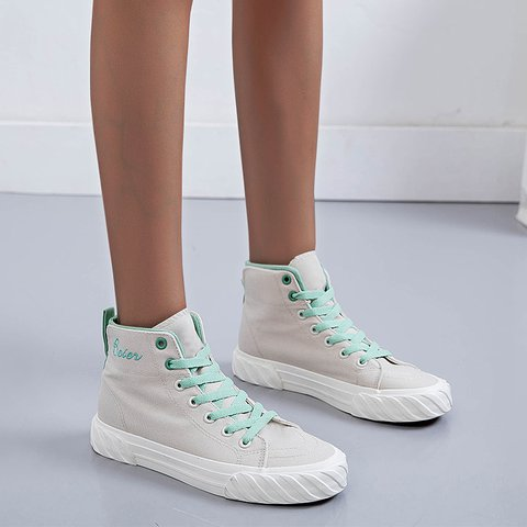 Canvas Color Block Spring Casual Sneakers