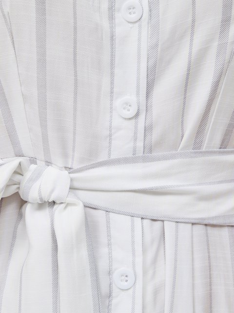 Short Sleeve Ruffled One-Pieces With Belt