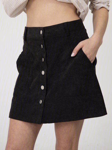 Black Corduroy Skirts