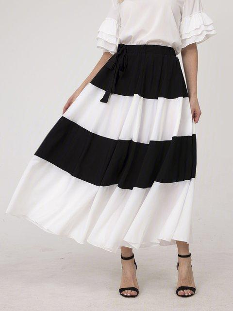 White-Black Skirts