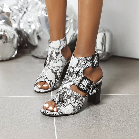 Pu Summer Adjustable Buckle Women's Shoes