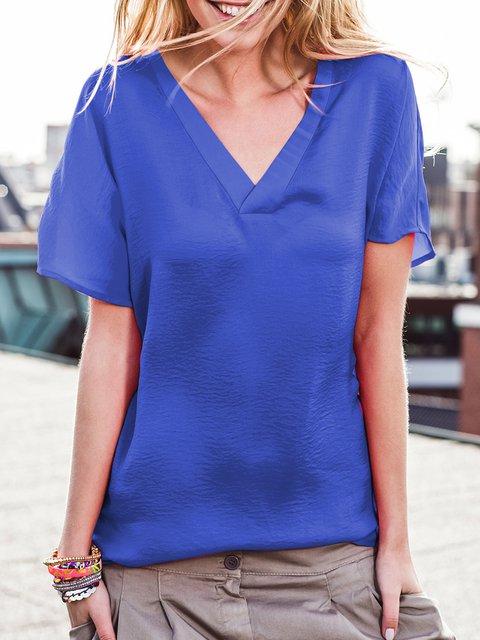 Women Summer Solid T Shirts