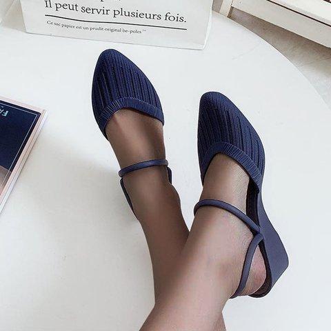 Pvc Solid Summer Block Heel Slippers
