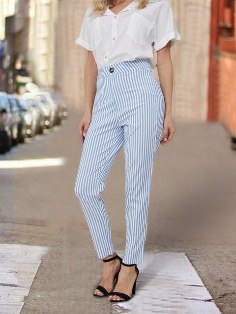 Blue Casual Pants