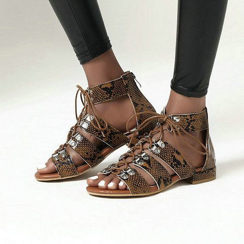 Women Summer Lace-Up Gladiator Sandals