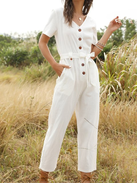 Paneled Casual One-Pieces